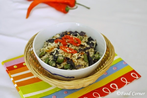 Purple Cabbage Fried Rice