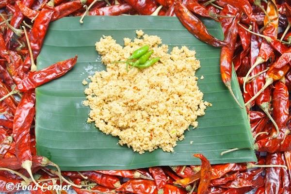 Pol Sambola in a Traditional Sri Lankan Kitchen