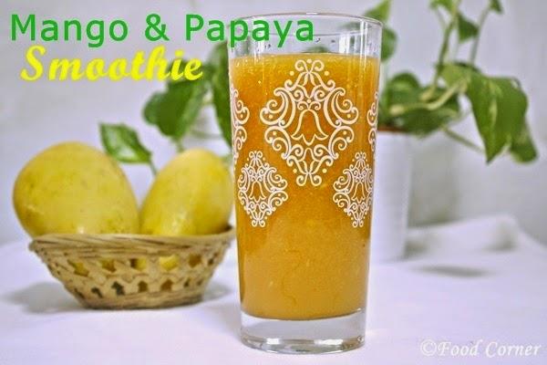 Papaya and Mango Smoothie