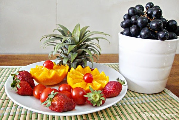 Easy Table Centerpiece with Fruits