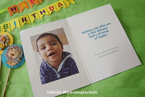 First Birthday personalized Card from Cardstore.com-Review