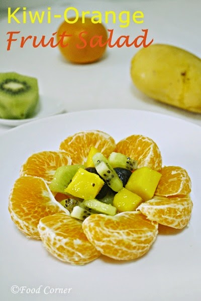 Fruit Salad with Kiwi Mango and Orange