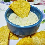 Easy Cheese Sauce with Tortilla Chips