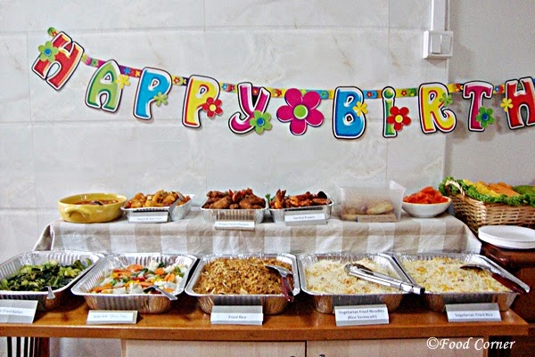 Animal Themed First Birthday Party Food Corner