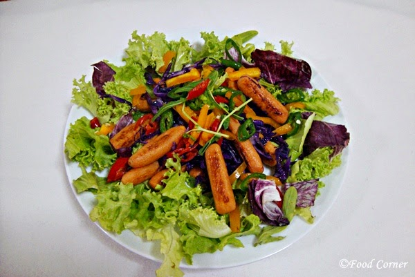 Roasted Baby Carrots and Purple Cabbage Salad