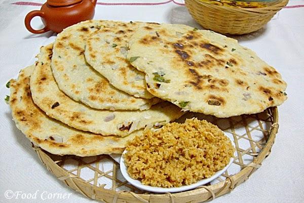 Tofu Roti -  Sri Lankan Pol Roti with tofu
