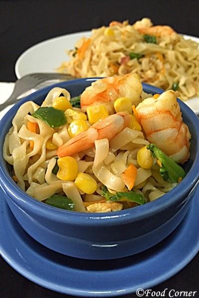 Broad Noodles Stir Fry with Tofu