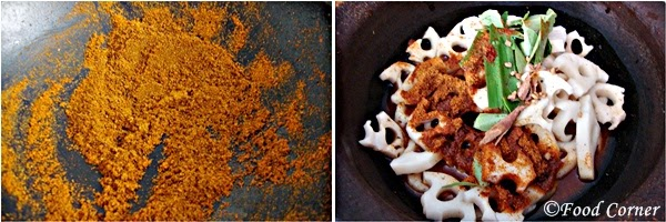 Nelum Ala Kalu Pol (Lotus root Curry Sri Lankan Recipe)