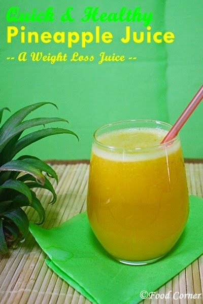 Pineapple Juice for weight lose