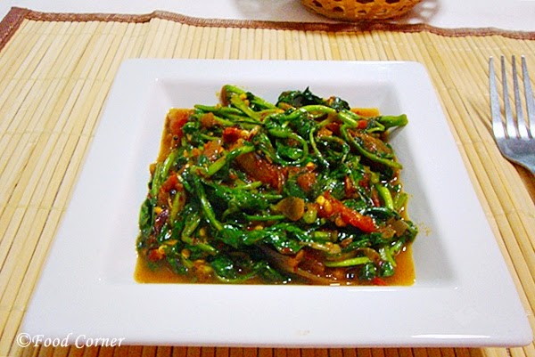 Watercress stir fry in Sri Lankan Style
