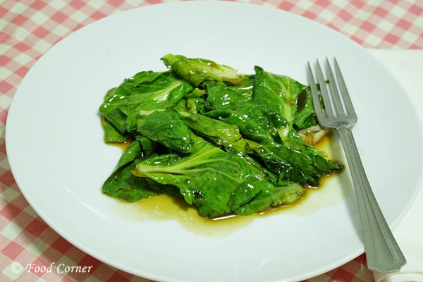Stir fried Baby Kailan in Oyster Sauce