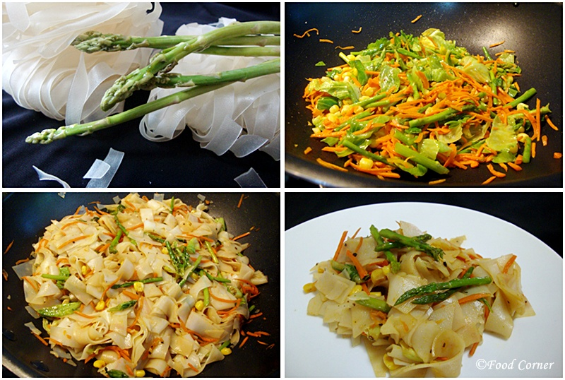Stir Fried Flat Rice Noodles