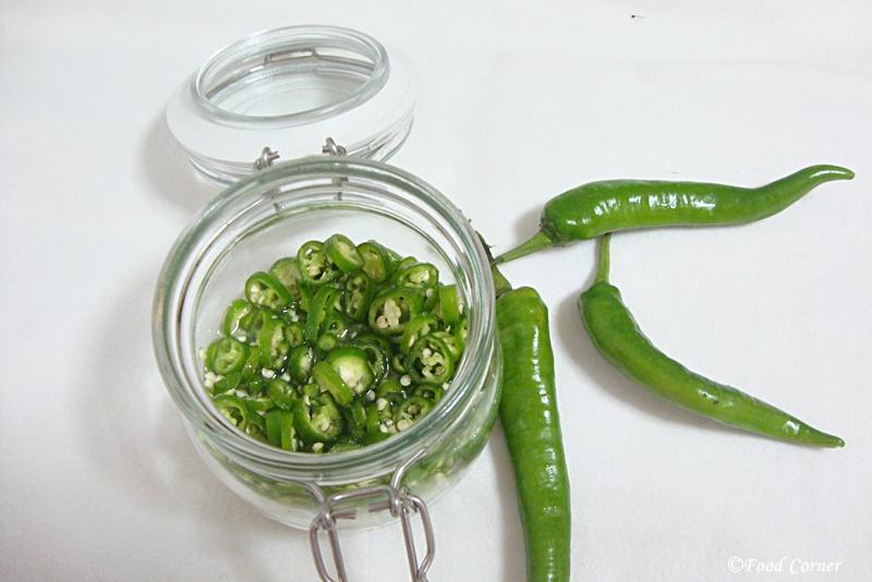 Pickled Green Chilli