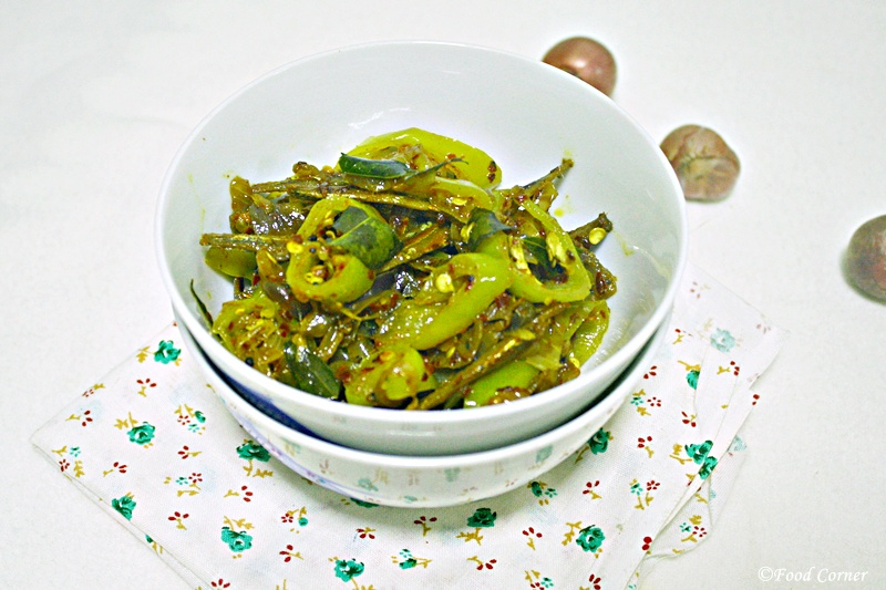 Dried Sprats and Banana Peppers stir fry