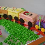 Easy Train Birthday Cake