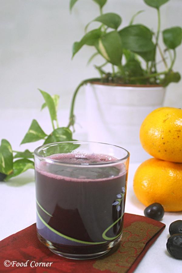 Grapes and Orange juice