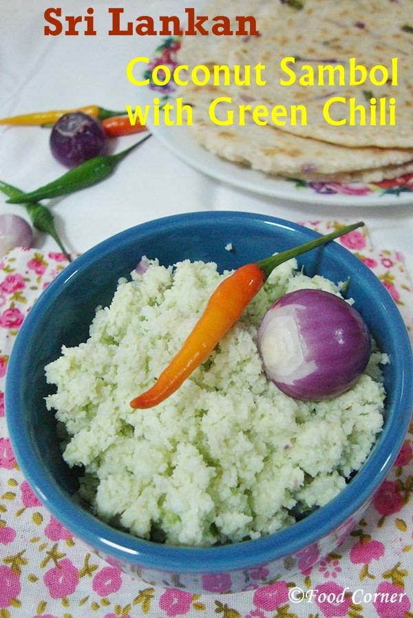 Coconut Sambol with Green Chili