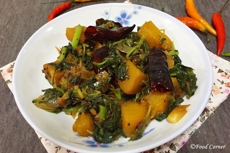 Pumpkin and Spinach Stir-Fry