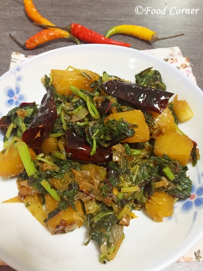 Pumpkin and Spinach Stir-Fry