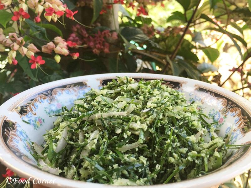 Sri Lankan Recipe: Kiri Aguna Kola Sambolaya