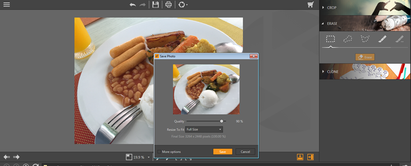 How to remove unwanted objects from your food photos