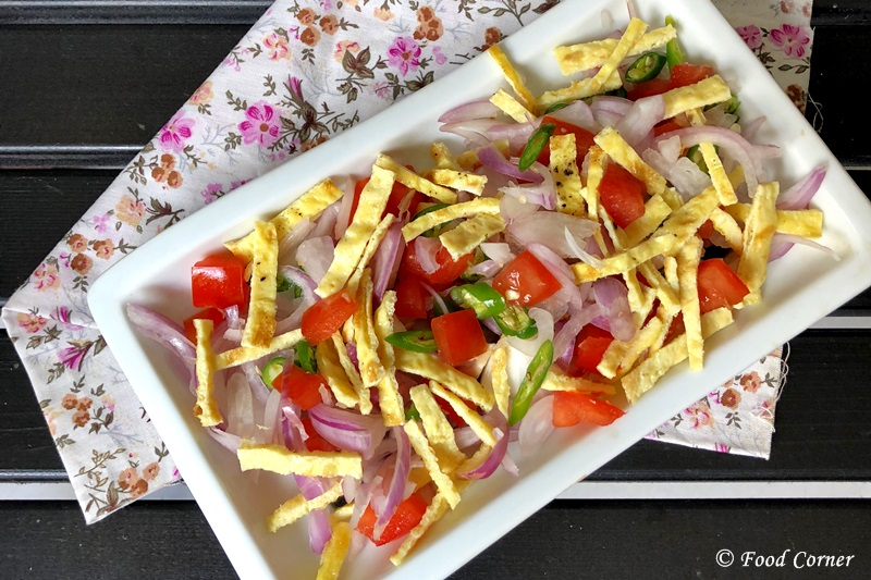 Shredded Omelette Salad recipe