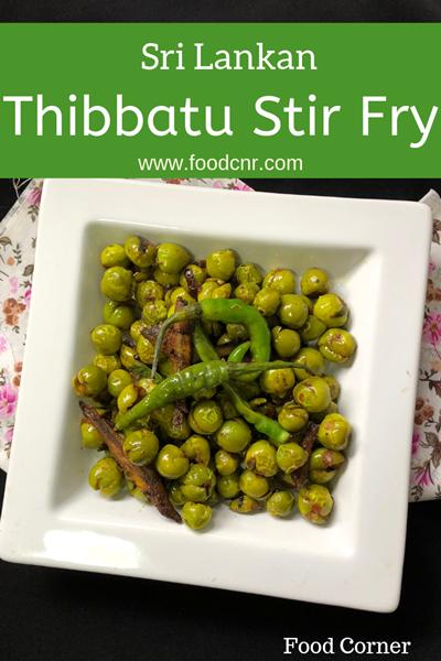 Sri Lankan Thibbatu Stir Fry