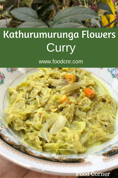 Kathurumurunga Flowers Curry
