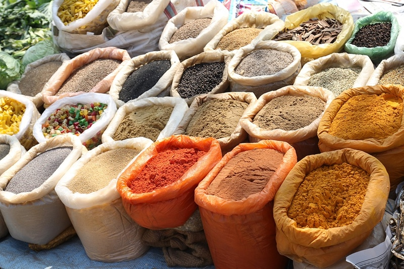 Spices in Indian Dishes