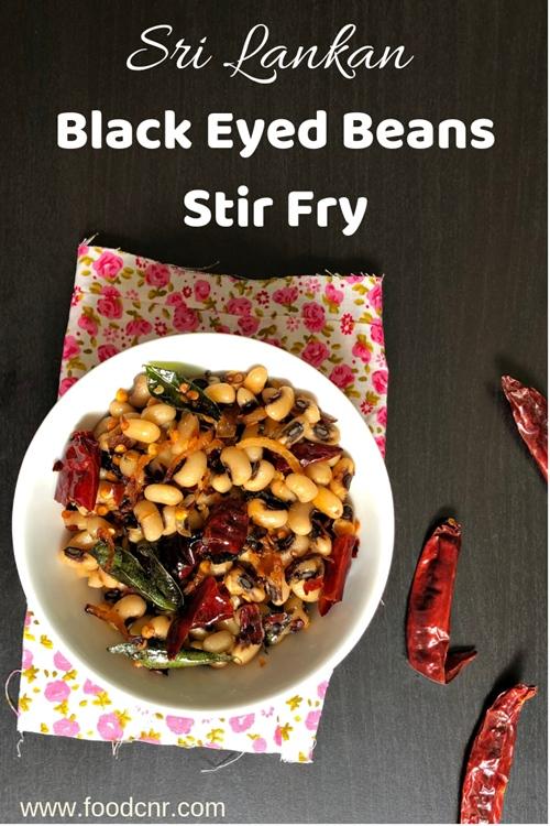 Black Eyed Beans Stir Fry