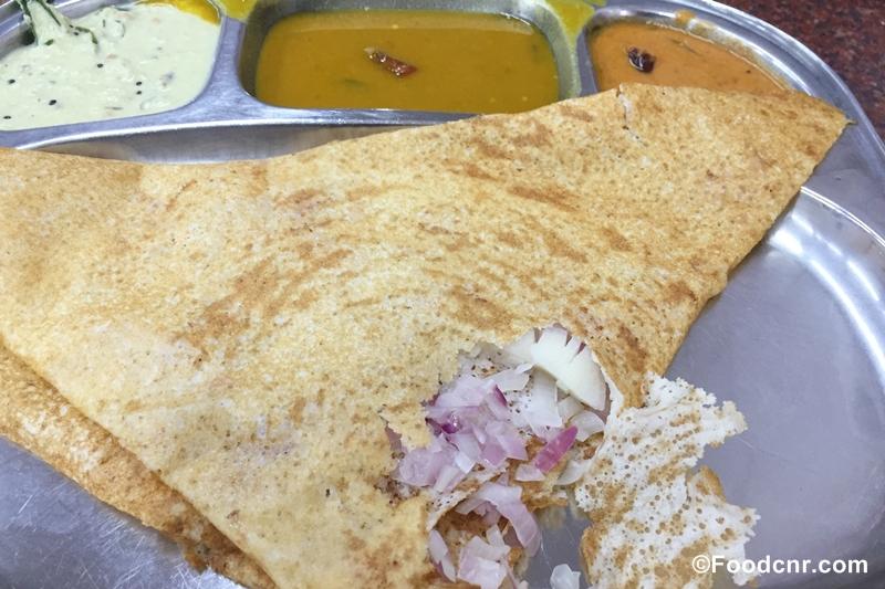 Indian food onion dosa